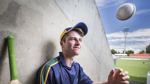 Learning curve: Canberra teenager Mac Wright is attending the inaugural Cricket Australia PRO camp in Brisbane.