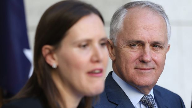 Prime Minister Malcolm Turnbull and Assistant Treasurer Kelly O'Dwyer.