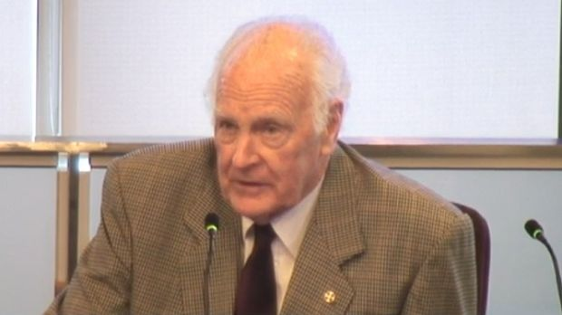 Former Governor General and Former Archbishop, Anglican Diocese of Brisbane Dr Peter Hollingworth gives evidence at the ...