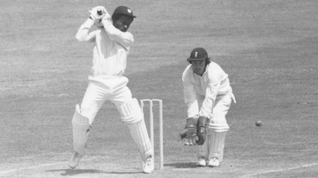 Roy Fredericks playing against England in 1976.