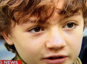 Oscar, 12, tried to hide under a mixing desk when the attack began.
