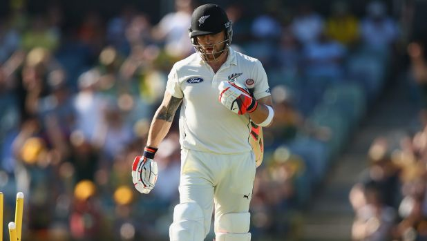 Job to do: Brendon McCullum was in no mood to mess around in Perth.