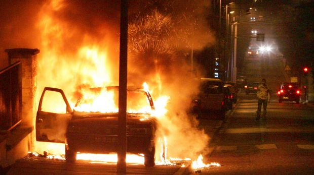 Vehicles and buildings were torched by disenfranchised youths in 2005.