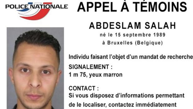 A file photo released by French police shows Salah Abdeslam.