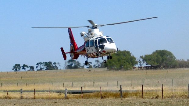 At least one of the people  injured in the crash has been flown to hospital in  Melbourne.