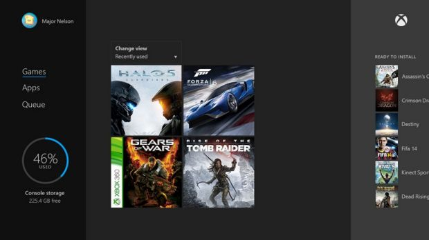 Xbox 360 games sit alongside all your other stuff. If you bought the game digitally it will just appear on your Xbox ...