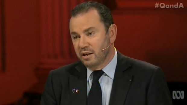 French ambassador to Australia Christophe Lecourtier said his hometown was attacked because France is 'at war'.