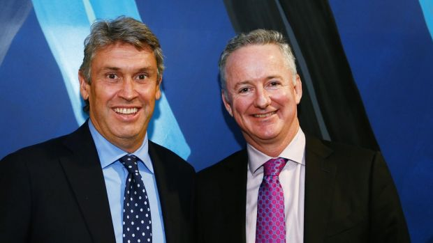 David Gyngell's (left) successor Hugh Marks appears to be keeping all his options open.