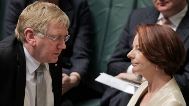 Former prime minister Julia Gillard and resources minister Martin Ferguson in 2012.