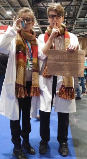 Fans dress up at the Doctor Who Festival in London.