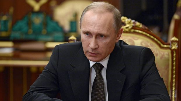 """A stab in the back"" ... Russian President Vladimir Putin has lashed out at Turkey over the downing of a Russian fighter jet."