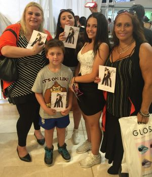 Jade Brincat camped for 36 hours to meet Kendall and Kylie with her mother Tammy, 50, little brother Lucas, 9, sister ...