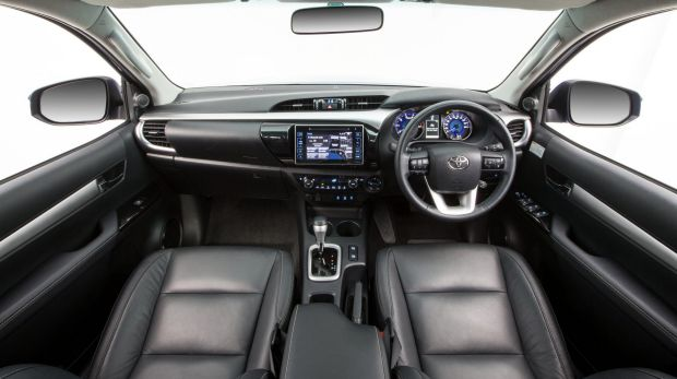 The Toyota Hilux SR5 interior is far removed from the utes of old.