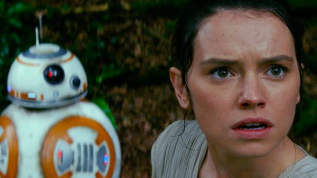 Rey in <i>Star Wars: The Force Awakens</i>.