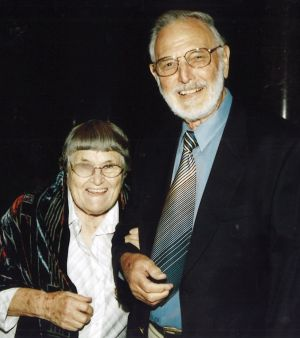 Steve and Essie Watson. Steve died in May, and left $6.5 million to the Art Gallery of NSW.