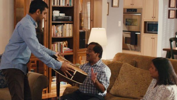 Aziz Ansari and his real-life parents in <i>Master Of None</i>.