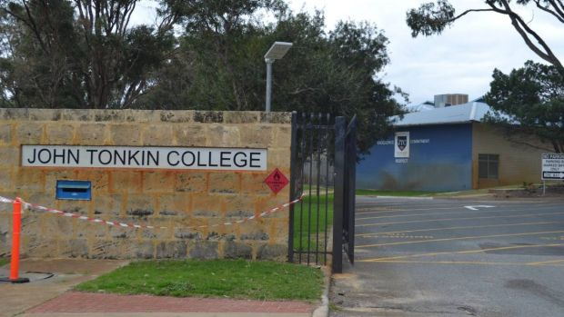The John Tonkin College teacher is understood to have lent a thumb drive to a student which contained the photos.