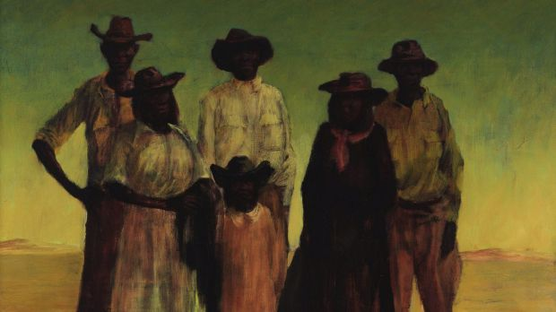 The controversy over this Russell Drysdale painting, <em>Group of Aborigines</em>, 1953, prompted a large bequest by ...