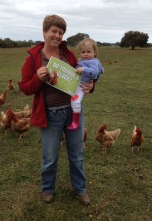 Free range egg producer Kathy Barrett from Katham Springs, pictured with her granddaughter, says the voices of smaller ...