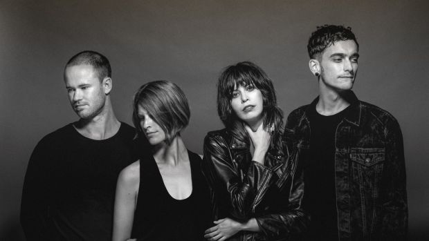 The Jezabels: (from left) Sam Lockwood, Heather Shannon, Hayley Mary and Nik Kaloper.