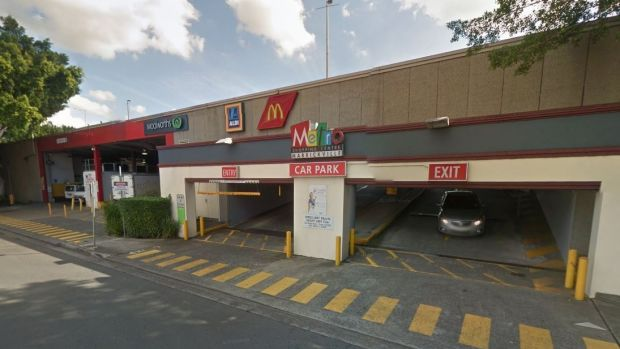 The car park at Marrickville Metro shopping centre where the arrest occurred