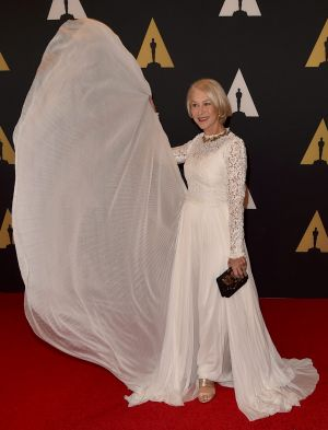 Blonde hair, don't care: Mirren has often ignited the debate on women deciding not to have children.