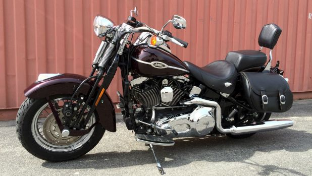 A 1996 Harley-Davidson Heritage Softail Special, similar to the one found in Nowra.
