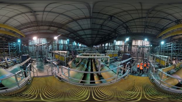 "Inside the Wonthaggi desalination plant, ""the biggest white elephant in Australia's history""."