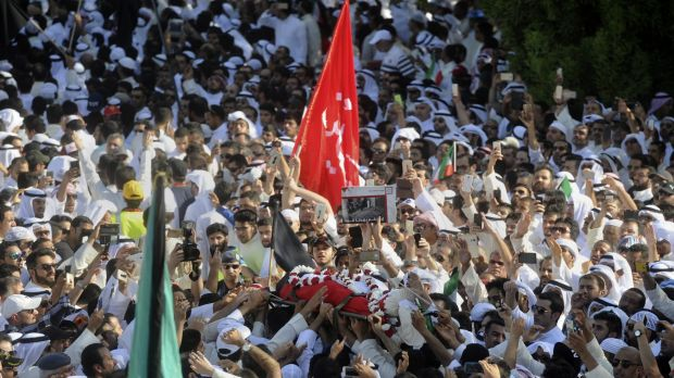 Kuwait's Islamic State troubles. Sunnis and Shiites took part in a mass funeral procession for 27 people killed in a ...