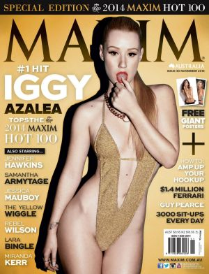Last year Iggy Azalea also hit out at her Maxim Australia cover.