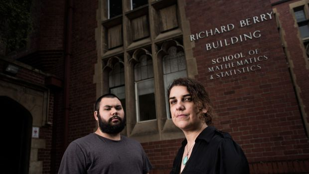 Action:  Odette Kelada, right, and Tyson Holloway-Clarke have been active in a campaign to rename the Richard Berry building.