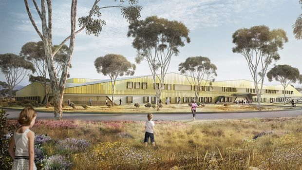 An artist's impression of the new University of Canberra Public Hospital. Acting Chief Minister Simon Corbell says the ...