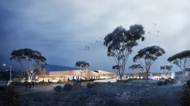 An artist's impression of the hospital, which will be built on the corner of Aikman Drive and Ginninderra Drive.