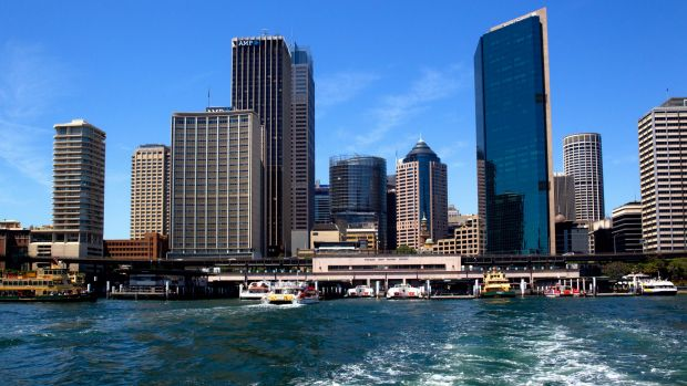 View of Circular Quay with the Cahill Expressway from a Sydney ferry. The office leasing market in the CBD is delivering ...