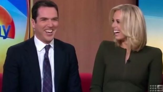 """Sylvia says it would be """"too difficult"""" to present with beau and Nine colleague Peter Stefanovic."""