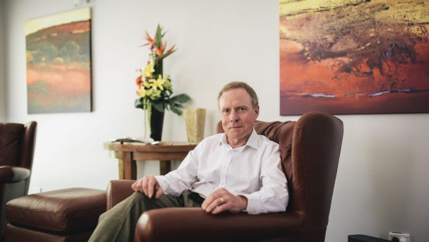David Morrison at his home in South Canberra.