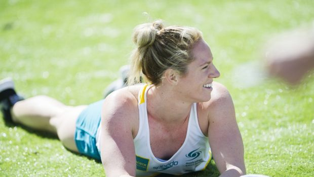 Focus: Emily Seebohm takes some time out at an Australian Institute of Sport swimming camp in September.