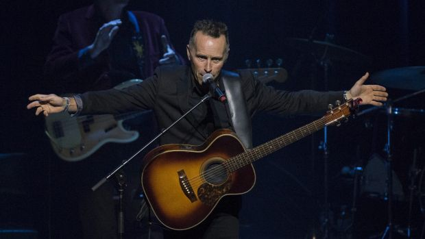 Singer Mark Seymour performs a song in honour of Stan Rofe.