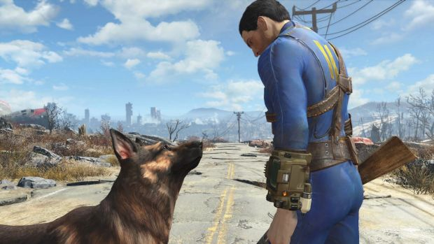 Welcome home: The Pip-Boy on the arm of the protagonist in Fallout 4.