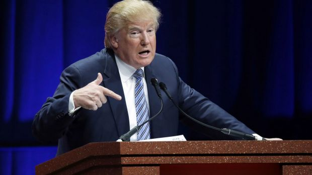 "Republican presidential candidate Donald Trump on Syrian refugees: ""If I win, they're going back."""