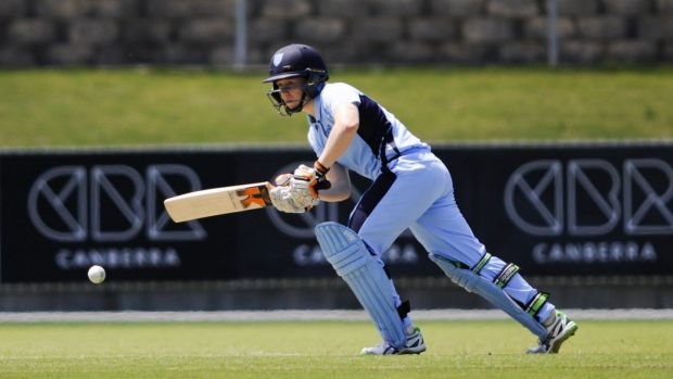 Alyssa Healy made 65 not out with the bat for NSW after being hit on the head.