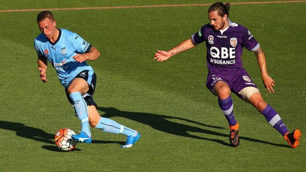 Is that it?: Dealys in returning from the Middle East may mean Alex Gersbach has played his last match for Sydney FC.