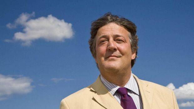 Stephen Fry is very fond both of the English vernacular and swearing a lot.