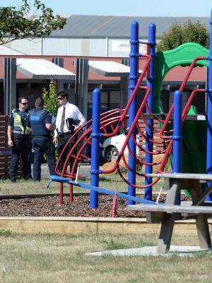 The play equipment near where the girl was believed to have been stabbed.
