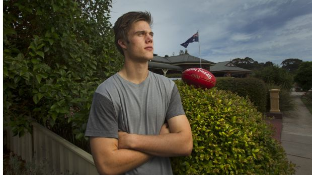 Josh Schache, photograghed during his draft year, has ached to be closer to his Seymour home