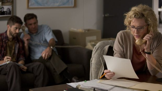 Cate Blanchett plays TV producer Mary Mapes in <i>Truth</i>. Mapes uncovered documents that cast doubt on whether ...
