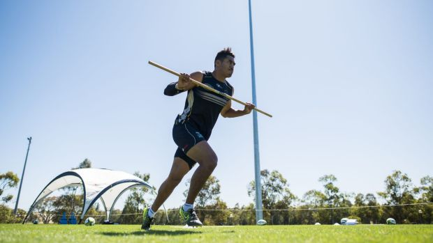 Nigel Ah Wong credits sprint training from John Pryor for his improved speed this year.