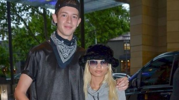 In happier times: Jayden Seyfarth, 18, told Kylie Jenner's best friend Pia Mia, 19, at Sydney Airport two weeks ago as ...