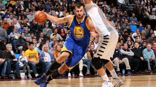 Star potential: Andrew Bogut drives against the Denver Nuggets.