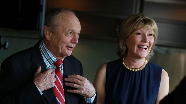 Harvey Norman executive chairman Gerry Harvey, pictured with his wife, managing director Katie Page, has dismissed ...